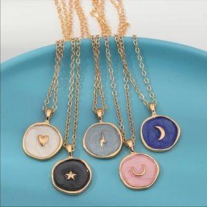 ⚡️NEW! Star Moon Lightening Round Pendant Necklace